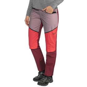 GORE WEAR H5 Windstopper Hybrid Pants Women chestnut red/hibiscus pink